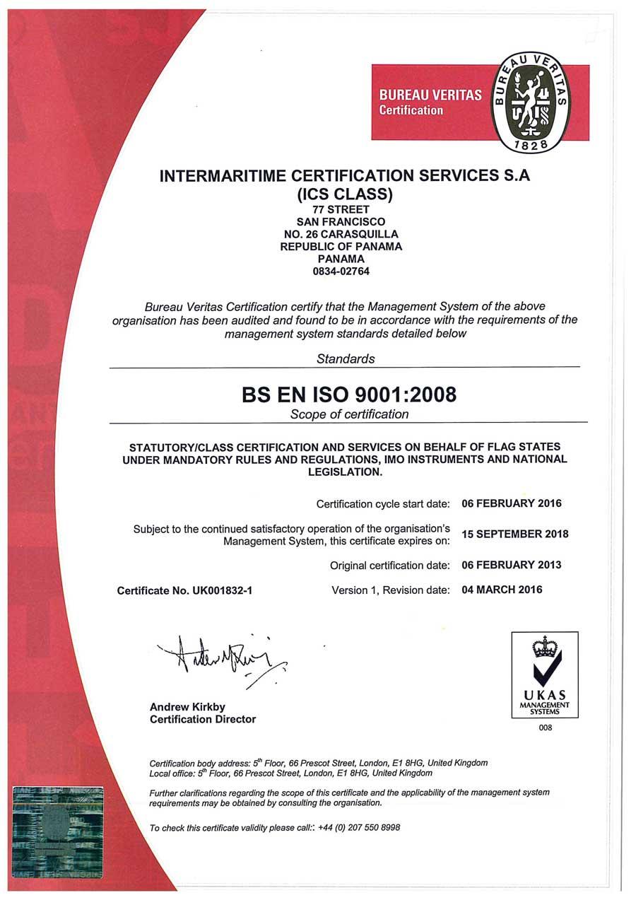 Bureau Veritas Certification Intermaritime Certification Services