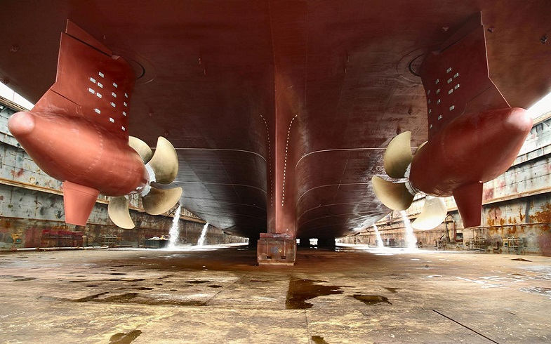 Completed-hull-of-vessel-in-dry-dock