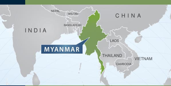 Myanmar on world map 28 images yangon map and yangon satellite myanmar gumiabroncs Gallery
